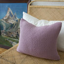 Strikk Hand Knit Seed Stitch Cushion In Blush Pink