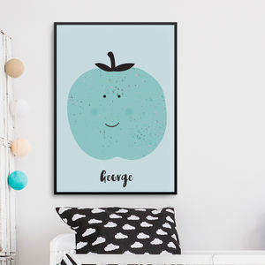 Personalised Children's Print Apple - posters & prints
