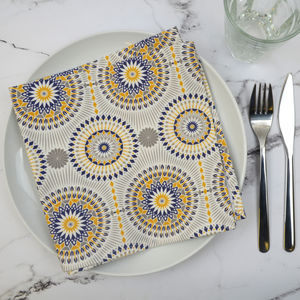 Set Of Four Dime Napkins
