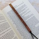 Hand Made Personalised Real Leather Bookmark
