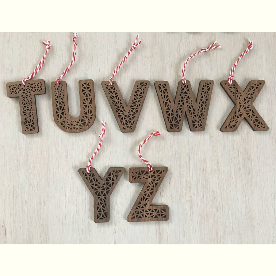 christmas tree decorative personalised letters - Christmas Letter Decorations