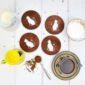 Wooden Cat Coasters - view all new