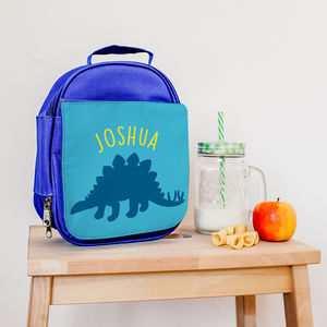 Personalised Insulated Dinosaur Lunch Bag