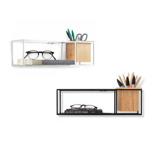 Rectangular Box Shelf With Planter - furniture