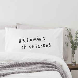 Dreaming Of Unicorns Pillowcase - unicorns