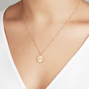 Gold, Silver Or Rose Large Personalised Disc Necklace - contemporary jewellery