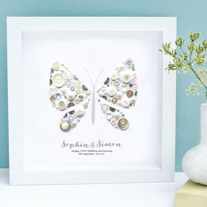 Personalised Butterfly Anniversary Framed Art