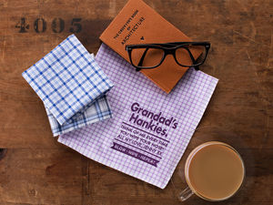 Best Grandad Personalised Message Handkerchiefs - new in fashion