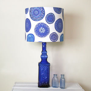 Blue And White Porto Plates Handmade Lampshade - lamp bases & shades