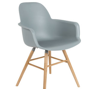 Scandinavian Light Grey Dining Chair - furniture
