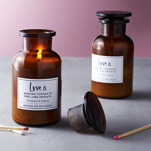Love Is Prosecco And Pomelo Soy Wax Candle - candles