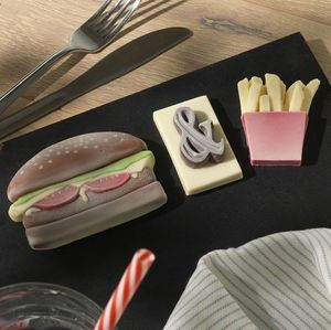 Chocolate Burger And Chips - novelty chocolates