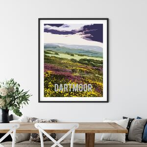 Dartmoor National Park, Fine Art Travel Poster