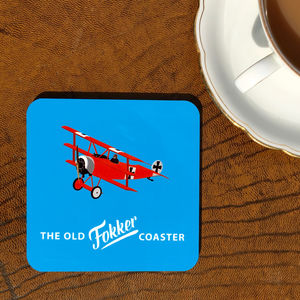 'Old Fokker' Drinks Coaster
