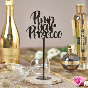Pimp Your Prosecco Party Table Decoration