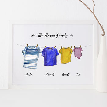 Personalised Washing Line Print