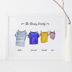 Personalised Washing Line Print - shop by price