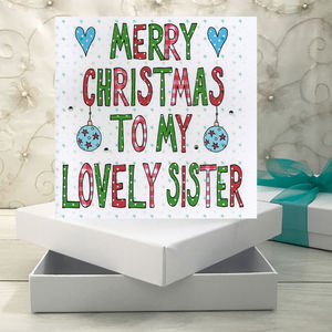 Personalised Sister Christmas Book Card