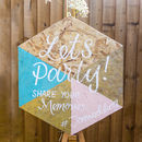 Hexagon Hashtag Wedding Sign