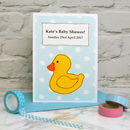 'Duck' Personalised Baby Shower Card