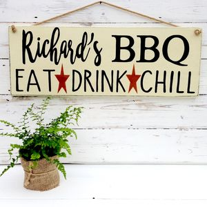 Personalised Bbq, Braai Or Bar Sign For Garden - decorative accessories