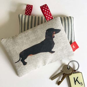 Smooth Black And Tan Dachshund Lavender Bag - home accessories
