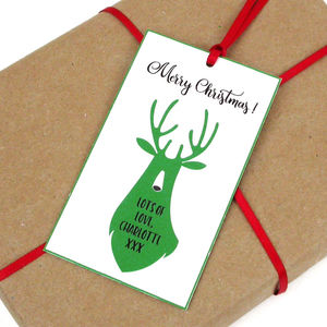 Personalised Deer Gift Tag