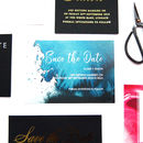 Indigo Ink Splash Wedding Save The Dates