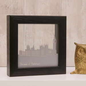 London Houses Of Parliament Mini Papercut