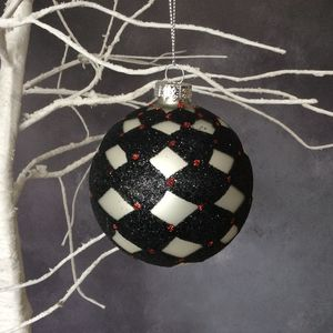 Black And Silver Harlequin Bauble