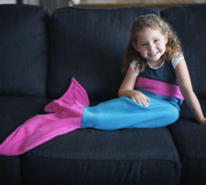 Mermaid Tail Blanket - blankets & throws