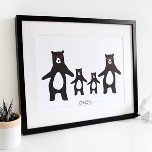 We Love To Boogie, Family A3 Print - winter wildlife art