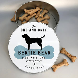 Personalised Dog Breed Tin 25 Dog Breeds Available - storage & organising