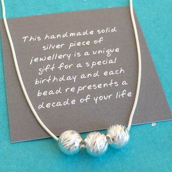 30th Birthday Handmade Sparkly Bead Necklace