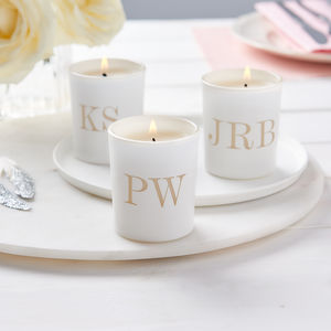 Personalised Glow Through Table Setting Votives - wedding favours
