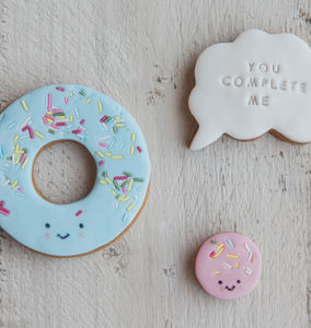 'You Complete Me' Doughnut Biscuits - personalised gifts