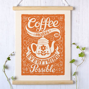 Coffee Print - summer sale
