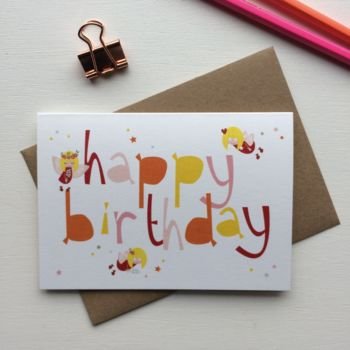 Children's Fairy 'Happy Birthday' Card
