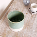 Potter's Wheel Mint And Cream Ceramic Flower Pots
