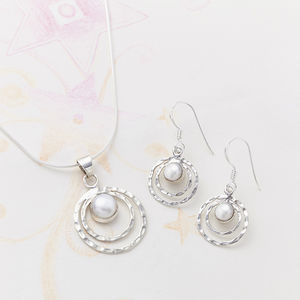 Pearl Infinity Set - earrings