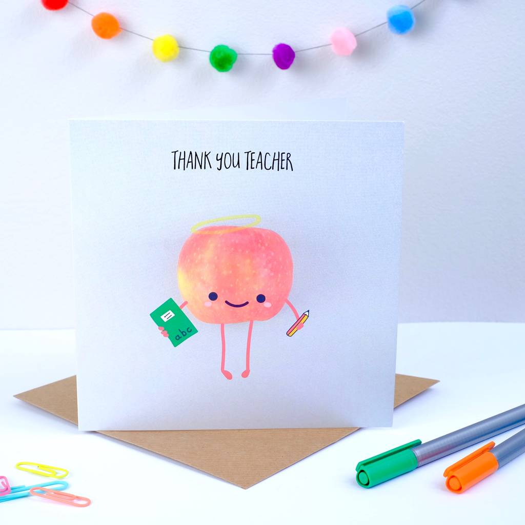 Thank you teacher greeting card by bold bright thank you teacher greeting card m4hsunfo