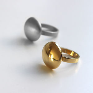 18ct Gold Vermeil And Sterling Silver Adira Ring