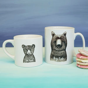 Personalised Big Cub Little Cub Mugs - gifts for fathers