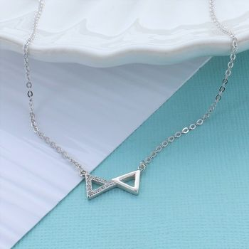Triangles Zirconia Necklace