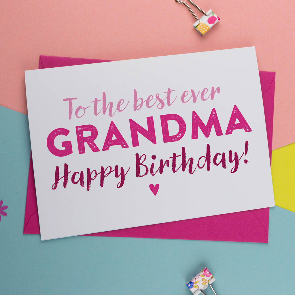 Birthday Card For Gran Nan Nanny Granny Grandma