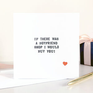 Boyfriend Shop Card
