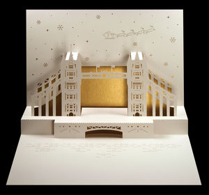 Tower Bridge Pop Up Christmas Card