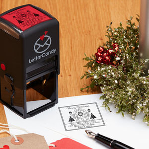Personalised Christmas Front Door Stamp