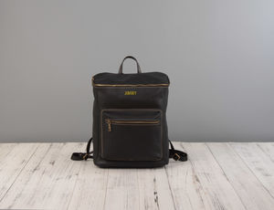 Genuine Leather Backpack - backpacks