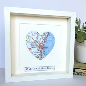 Personalised Heart Map Picture
